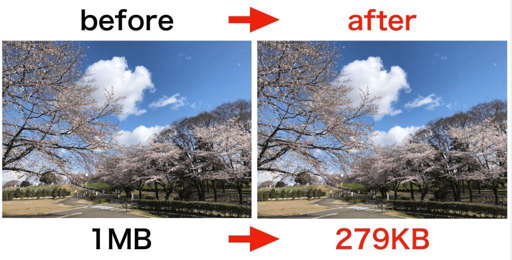 画像圧縮の比較画像