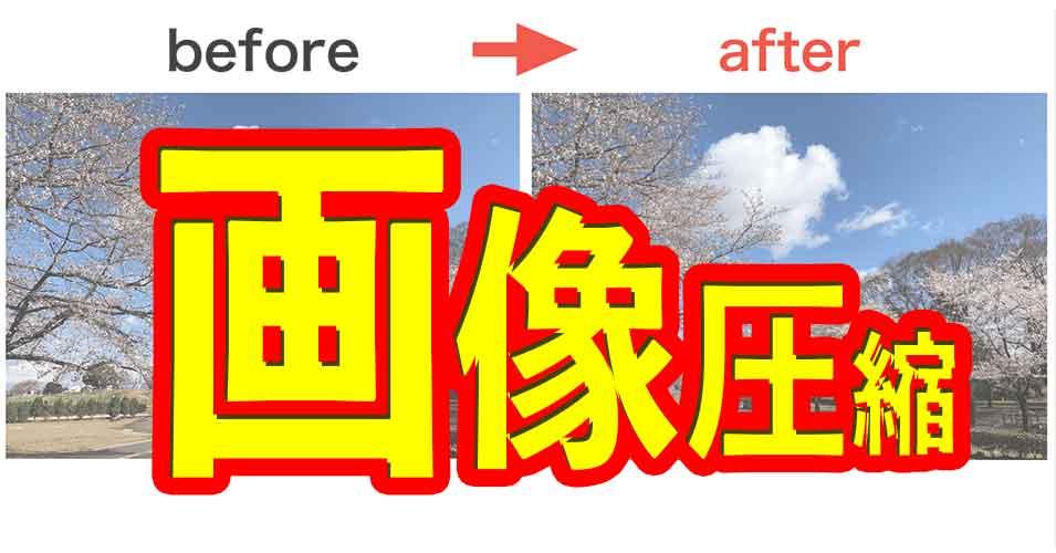 表示速度に影響する画像圧縮