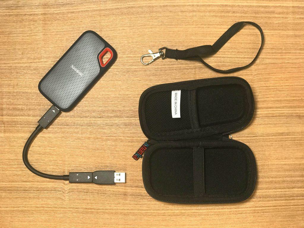 サンディスクポータブルSSD専用キャリングケースを購入した感想記事